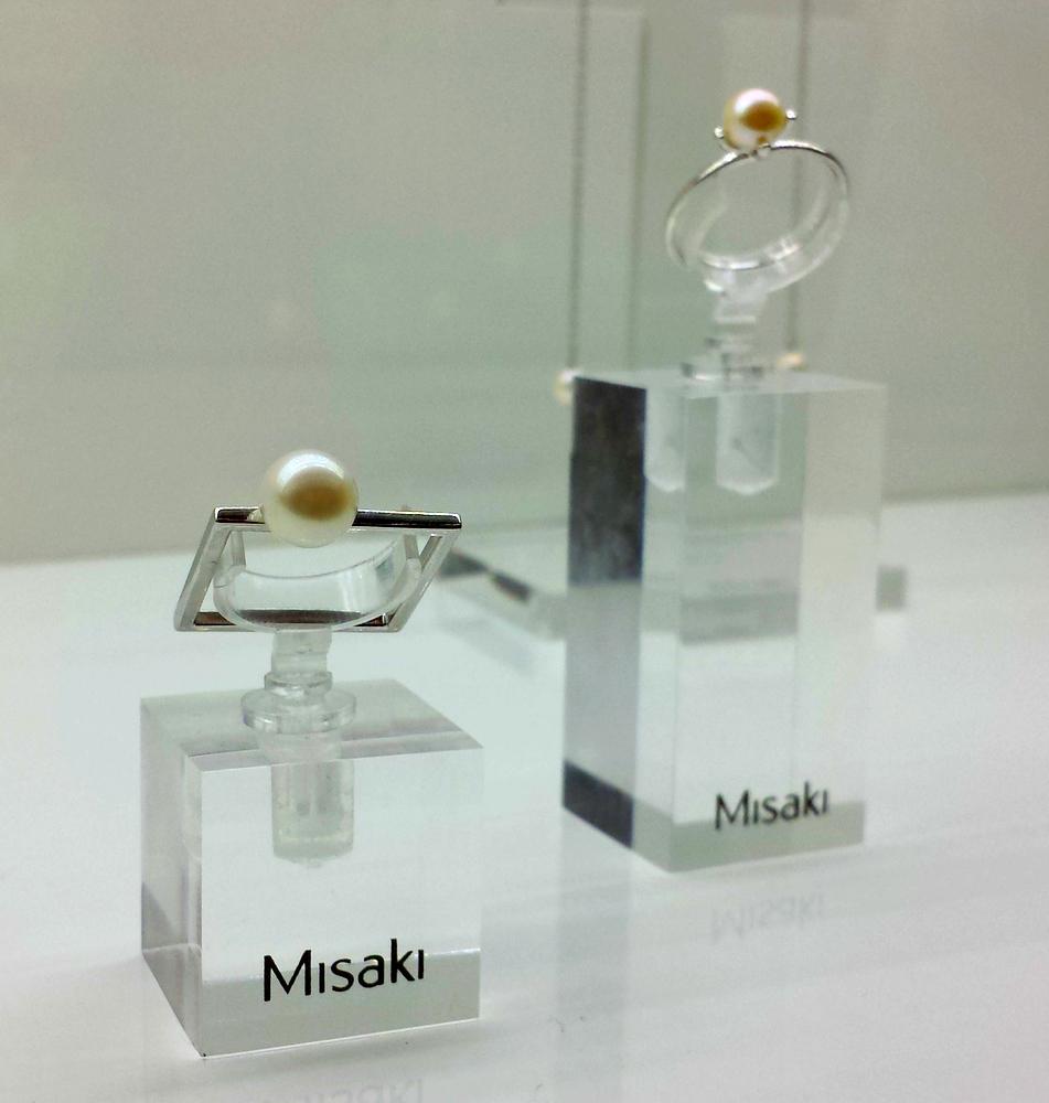 Bague carrée Misaki Perles