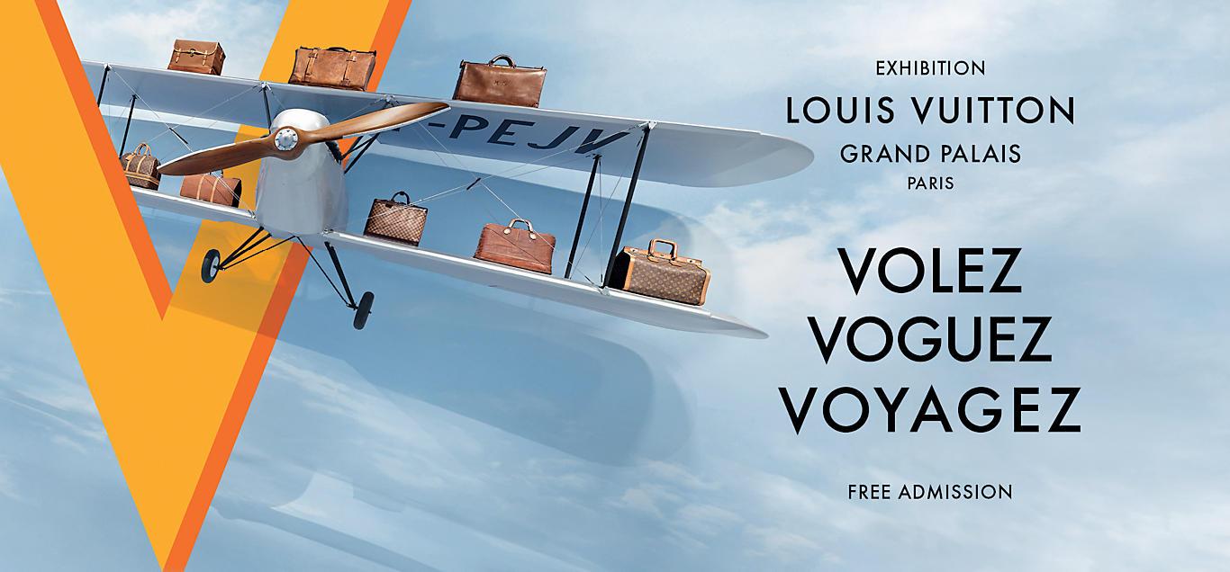 Affiche expo Voguez Volez Voyagez Grand Palais Louis Vuitton