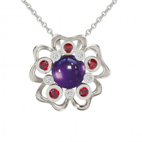 pendentif-pensee-sauvage-amethyste-xl- philippe tournaire