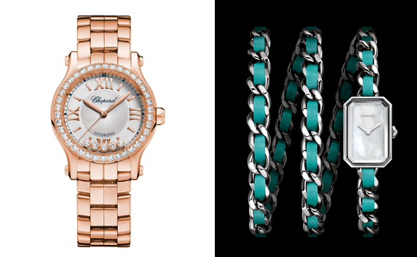 Montre luxe Chopard Or rose Chanel Première
