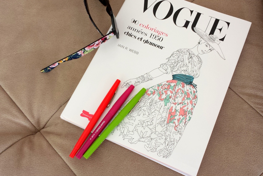 Vogue album coloriages Iain Webb
