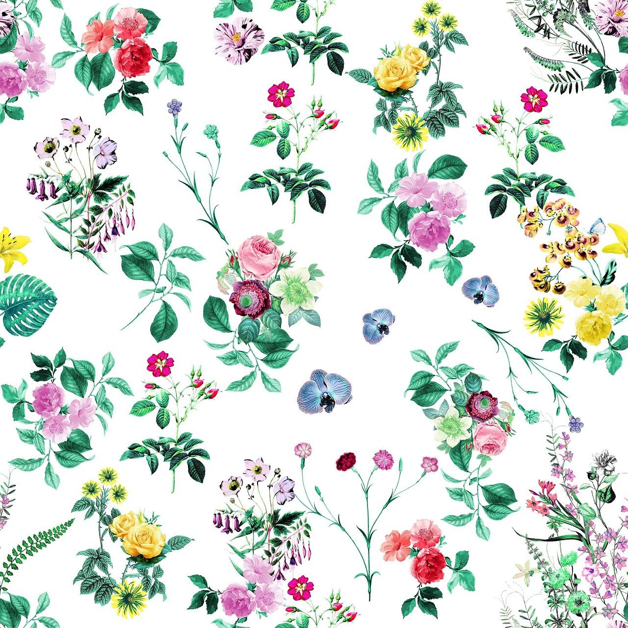 Imprimé fleuri fonds blanc
