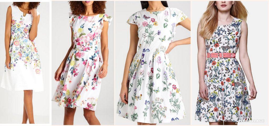 Sélection robes blanches fleuries Zalando