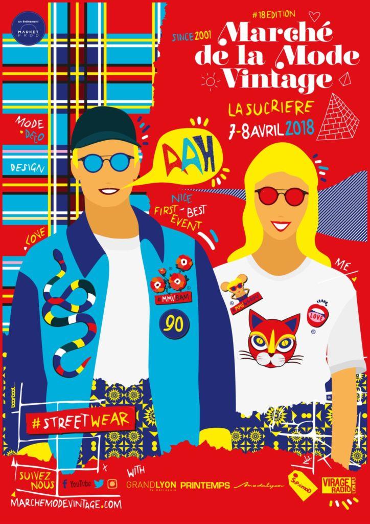Affiche Marché Mode Vintage Lyon 2018