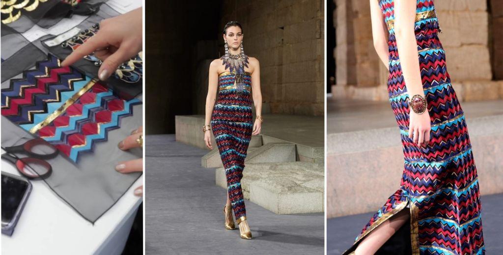 Chanel Métiers d'Art 2018 - Lémarié marquetterie plumes