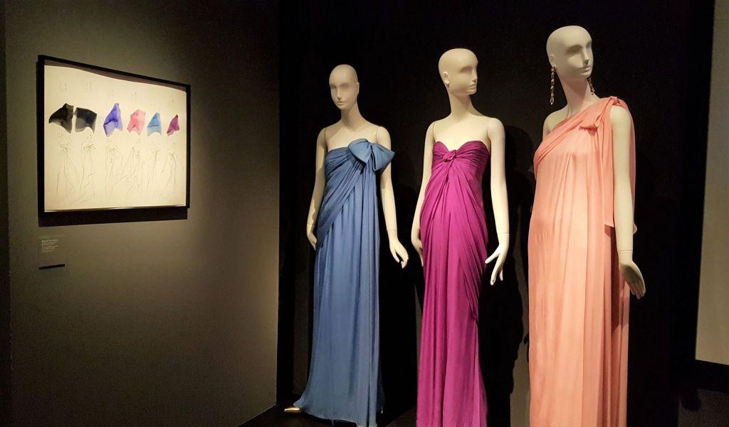 Yves Saint Laurent Haute Couture Mousseline Musée des Tissus Lyon