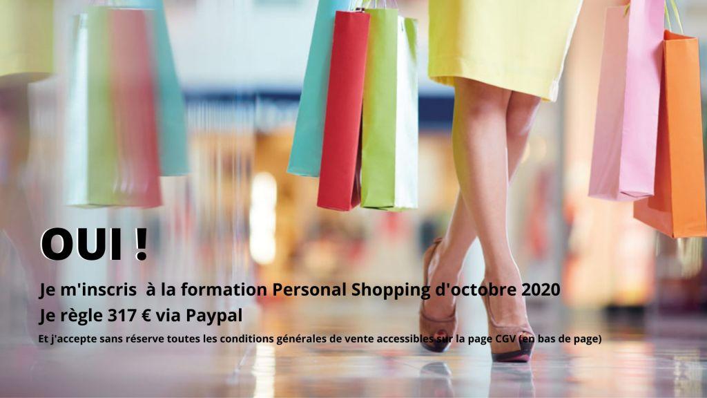 Inscription Formation Personal Shopper à distance