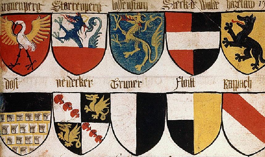 Blason héraldique médiévale