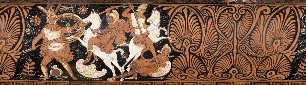 Combat Grecs Amazone vase Musée Beaux Arts Boston