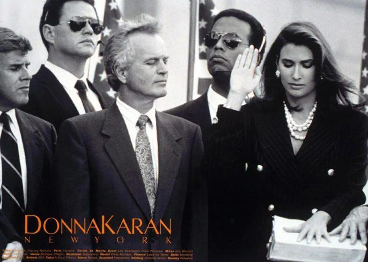 Donna Karan Pub 1992 femme présidente USA