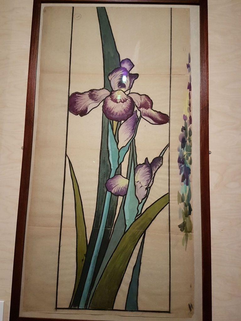 Vitrail Iris Etienne Grasset MAD